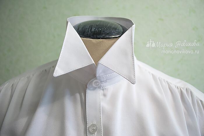 Воротник в мужской рубашке своими руками