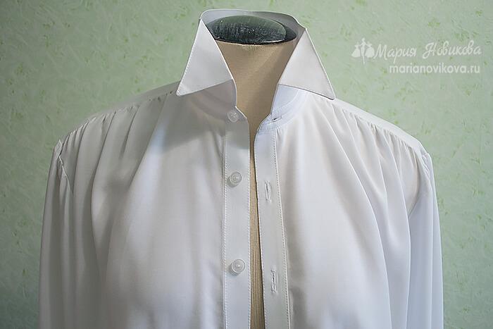 Мужская рубашка в стиле 19 века