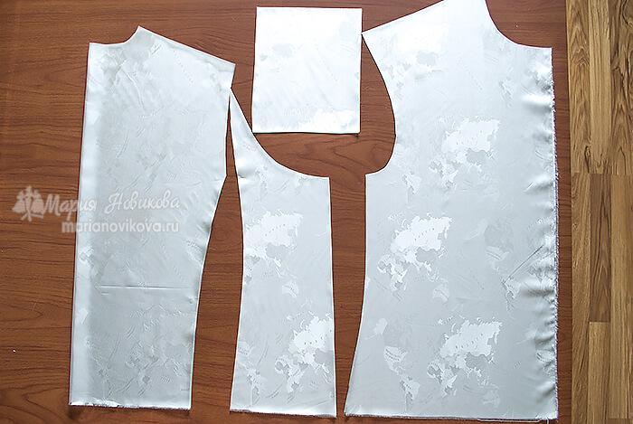 Детали подкладки для жилета