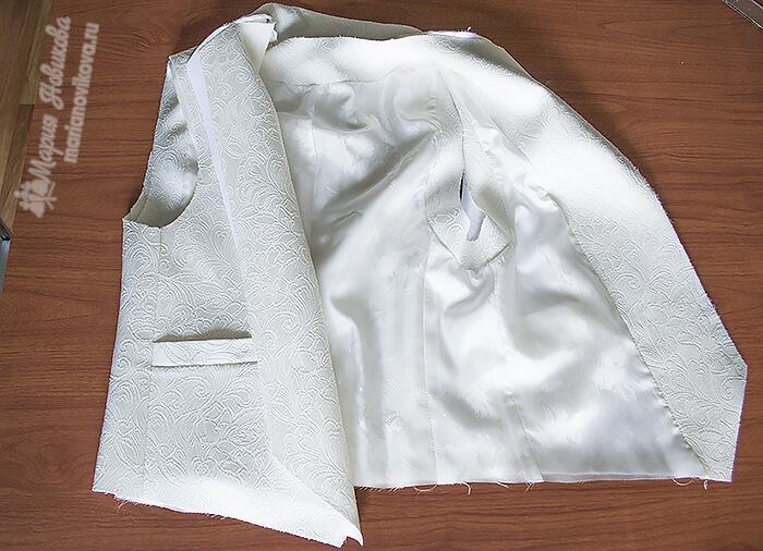Соединение жилетки с подкладкой