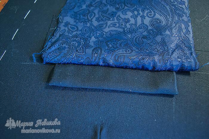 Обработка нагрудного кармана
