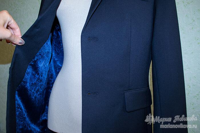 Мужской пиджак на подкладе вручную