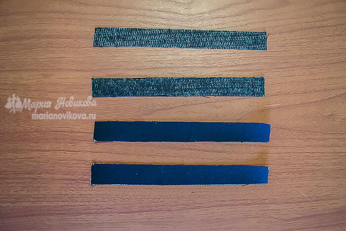 Обтачки и прокладка обтачек для кармана в подрезе