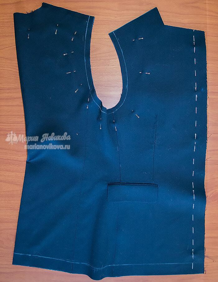 Осноровка мужского пиджака