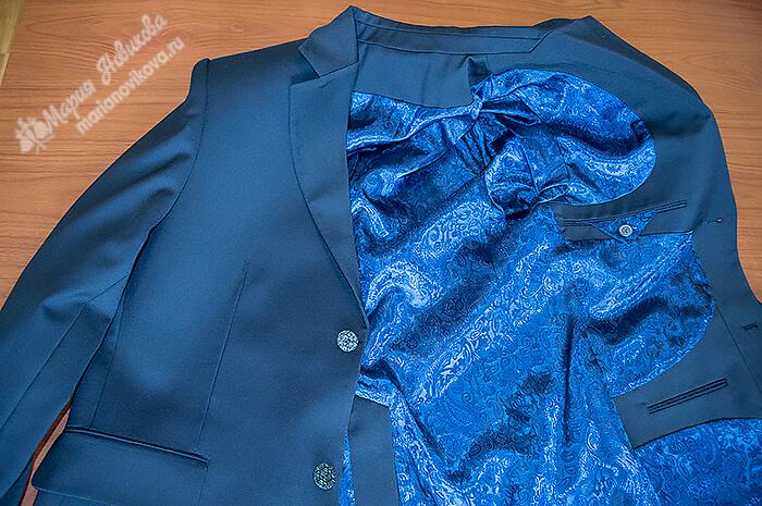 Мужской пиджак на подкладе