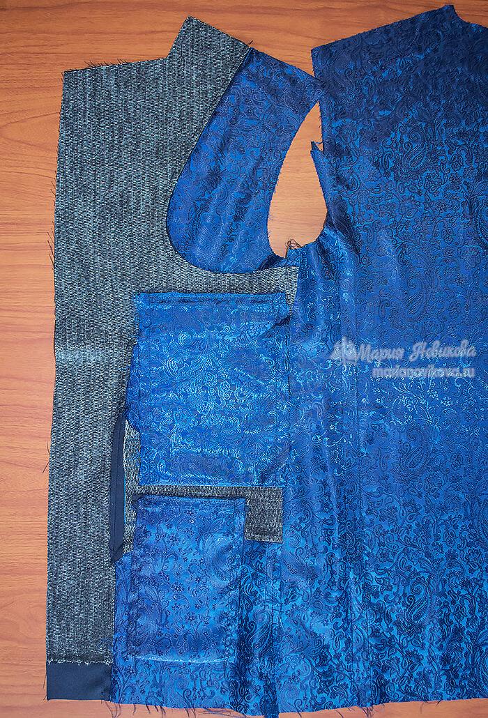 Подкладка пиджака с изнанки