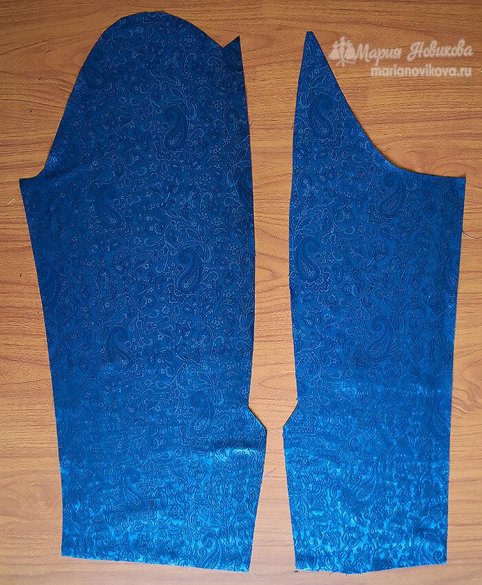 Детали рукава из подкладочной ткани