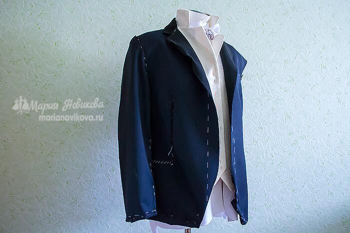 Мужской пиджак после первой примерки
