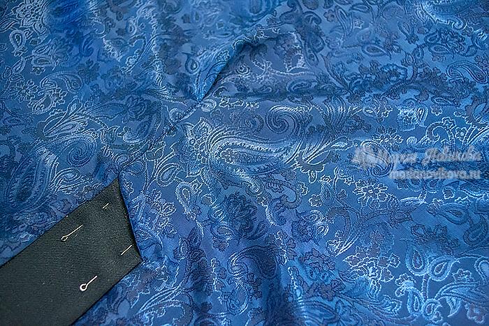 Складка на подкладке шлицы