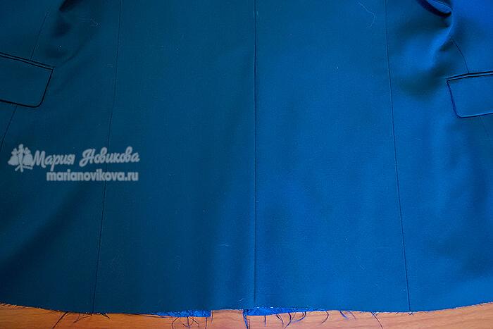 Шлица по спинки мужского пиджака