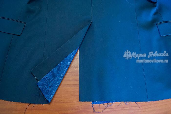 Пошив мужского пиджака со шлицей